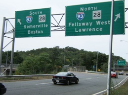 Route 28 over Route 93