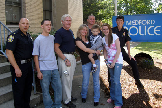 Beranger family of Medford with local police