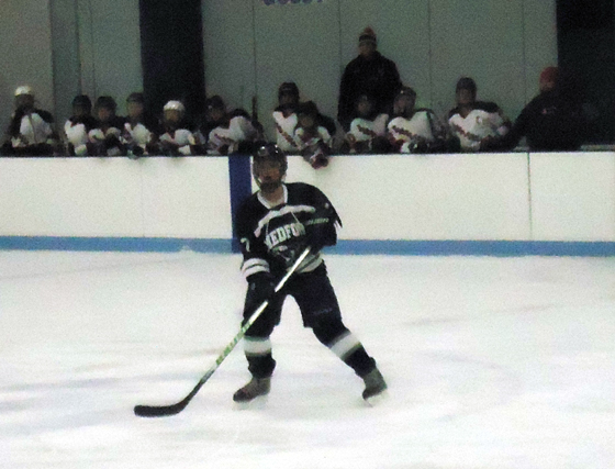 Mustang girls hockey player