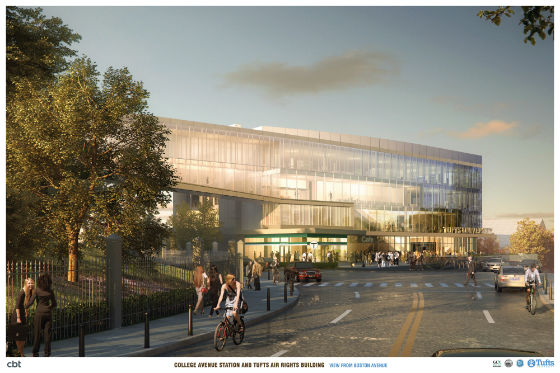 College Avenue station rendering